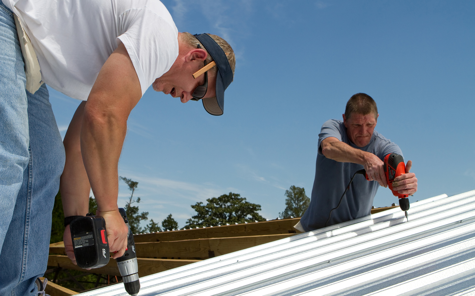 Partners working on Metal Roofing